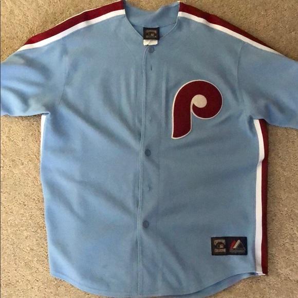 super popular c61dd b99b9 Majestic Philadelphia Phillies Utley Jersey